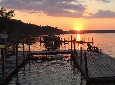 Gantt Lake RV Park pier