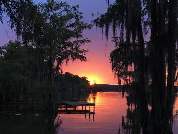 Gantt Lake RV Park sunset